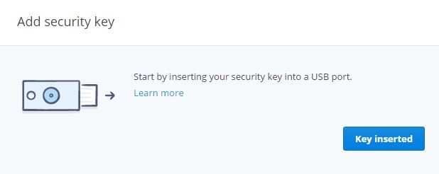 DropBox Add Key